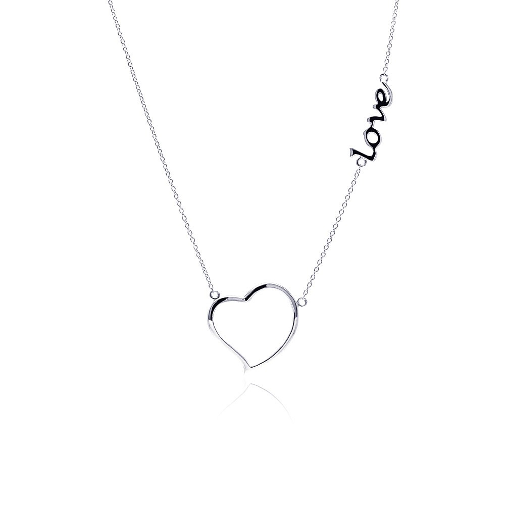 "Sterling Silver ""Heart in Love"" Necklace"